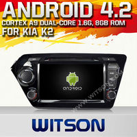 WITSON ANDROID 4.2 KIA K2 DOUBLE DIN CAR DVD WITH 1.6GHZ FREQUENCY STEERING WHEEL SUPPORT RDS BLUETOOTH GPS