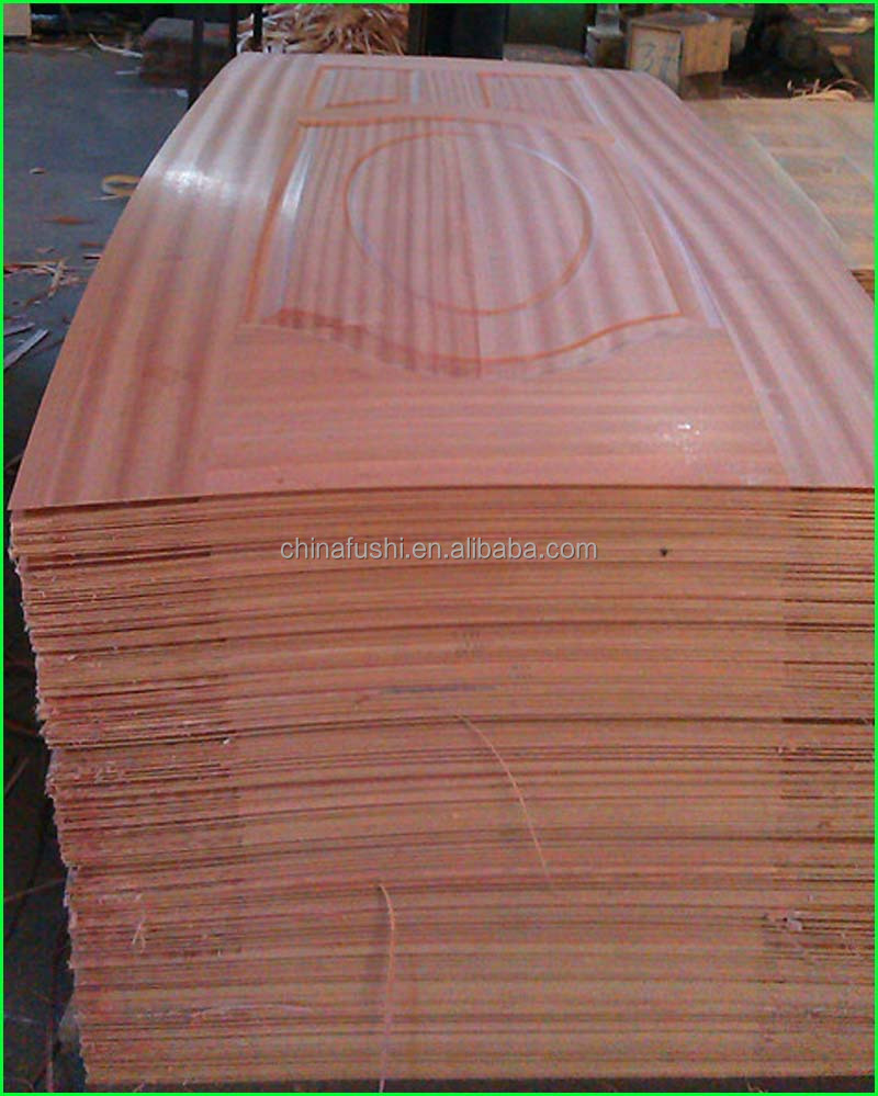 Good quality moulded wooden interior HDF door skin for apartment