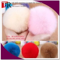Wholesale 5-15CM Genuine Rabbit Fur Ball , Rabbit Fur Pom Poms
