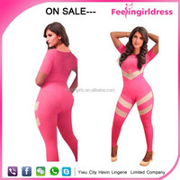 Sale evening dress cheap bandage dress China facotry pink jumpsuit