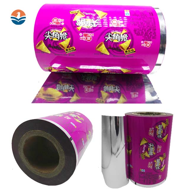 Custom Logo Food Packaging Plastic Auto Packing Film Roll For Snack