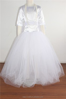 latest design white princess dress long baby girl dresses