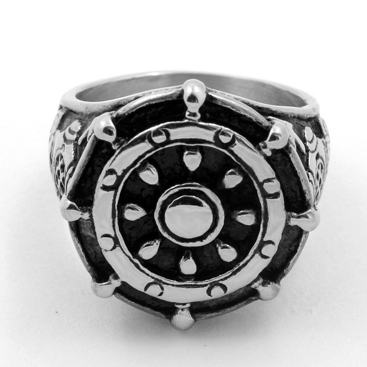 European and American fashion, domineering anchor titanium steel ring, personality ring jewelry wholesale YSS726