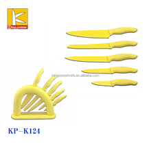 bright color non stick coating kitchen cutting knife