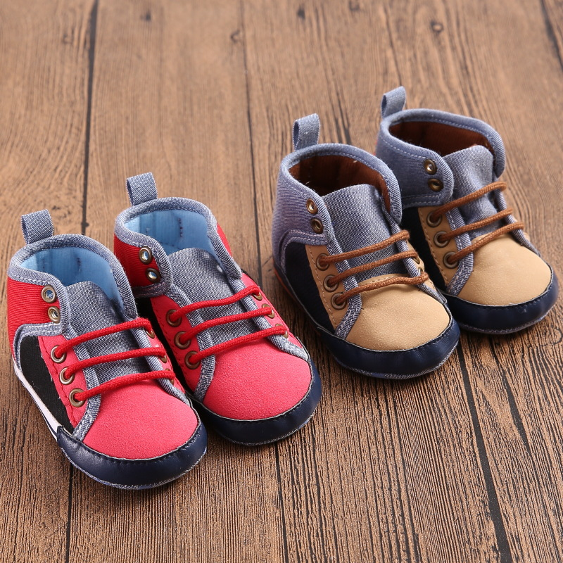 W0908 Hot Baby Shoes Brand New Kids sneakers Prewalker Boys Toddlers Newborn First Walkers Star Brand Canvas bebe boys Shoes