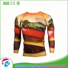Accept Paypal Sublimation Custom Printed Compression Shirts Mma Shirt