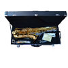 Woodwind musical instrument gold finish Bb brass professional tenor saxophone