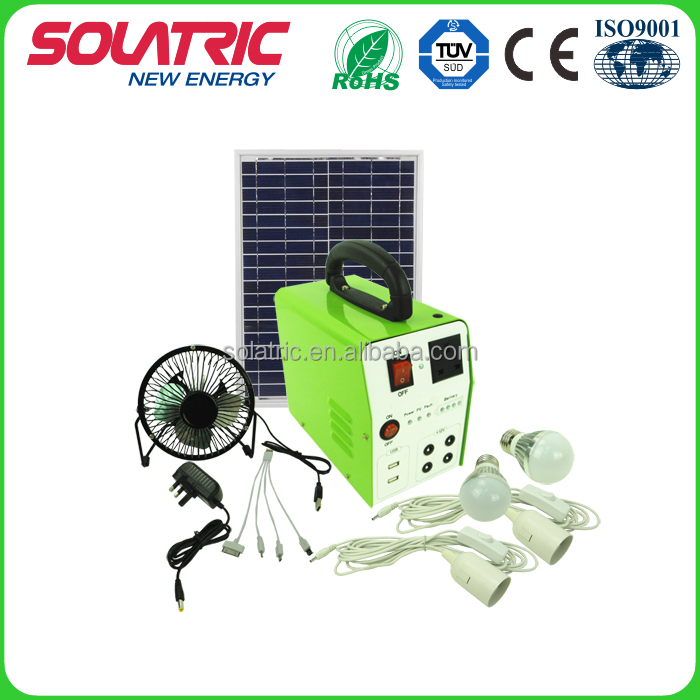 AC12V/150W rechargeable solar energy system for home lighting and charging