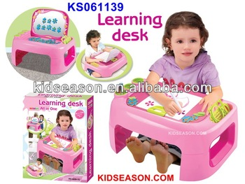 KIDS TOYS LEARNING DESK, CHILD TOYS DRAWING SET