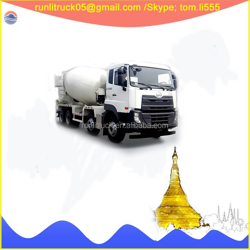 Japan brand nissan ud DND5310GJBGB51 400hp 8*4 16 cubic meters cement mixer truck for sale in dubai