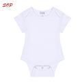 New Born Baby Clothing Baby Toddler Clothing Organic Cotton Plain White Baby Romper