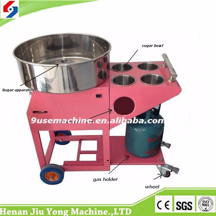 Gas Cotton Candy Machine with cart