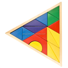 2015 educational wooden triangle blocks building blocks