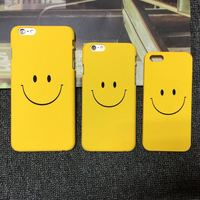 smile face PU shell coler variety phone case for iPhone 6 6s lovely case for iPhone
