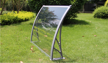 plastic door canopy awning with clear polycarbonate solid sheet for sale