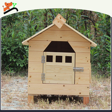 Thick Solid Wood Natural Dog House Waterproof without Painting