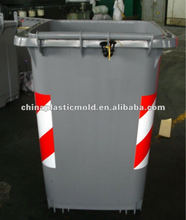 Street smart plastic paper bin 360l waste can dustbin wheelie bin