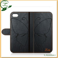 for iphone 5 case leather,cover for iphone 5, decent quality wallet butterfly style for iphone 5s case