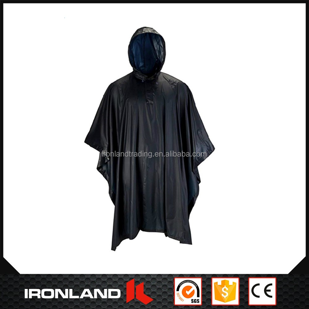 2017 wholesale soft rubber rain poncho with sleeves