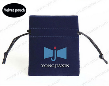Fashion black velvet pen gift bags with drawstring