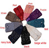 New Fashion Rhinestone Wool Knitted Bow Knot Women Hair Headband