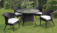 Caffee patio glass sofa set/table and chairs waterproof wicker PE rattan garden leisure indoor or outdoor furniture