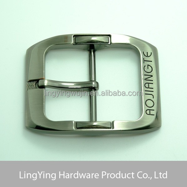 Silver polished pin metal men belt buckle manufacturers