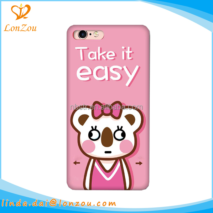 Bulk smart phone cases pink cute cartoons OEM pc tpu import cell phone cases manufacturer
