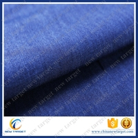 Cotton curtain combed shirting denim fabric