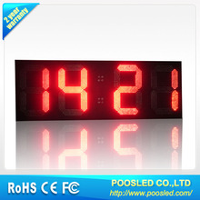 "Outdoor-D12""-Red-88:88- Digits-Time & Temp display / led screen waterproof IP65"