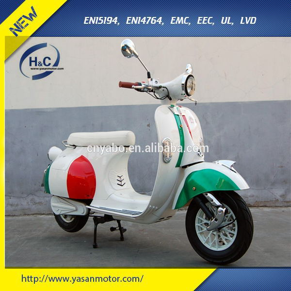 Hot selling 3000W vespa EEC electric motorbike with portable battery
