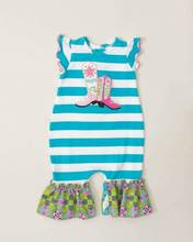 Best selling flutter sleeve soft baby cotton romper with boots