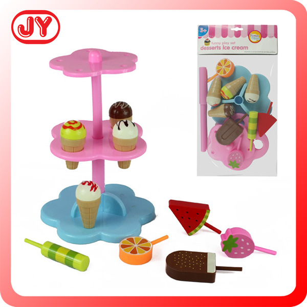Cheap emulational plastic food toys ice cream play-set plastic toy mini food with EN71