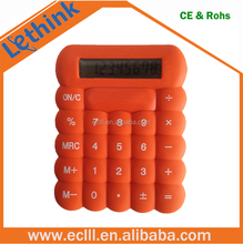 Hot selling cheap funny silicone 8 digit calculator for promotion