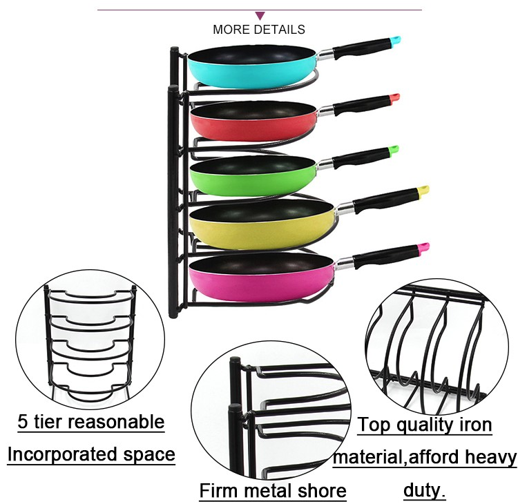 Hot Koop Keuken Levert Metalen Wandmontage Pot stand organizer pan pot rack