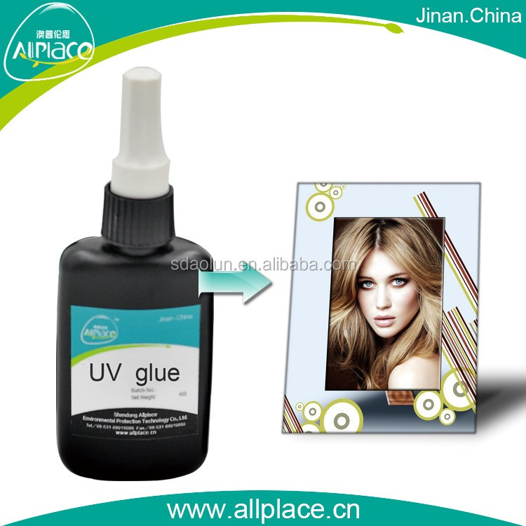 Yellowing-resistant uv cure adhesive for glass photo album