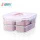 Japanese 6 compartment stackable microwave plastic pp lunch box