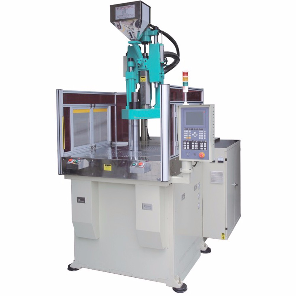 Rotatable Clamping force 85 Ton Vertical Servo small plastic injection molding machine for brushes -HM094