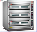 Durable 400 Degree 9 Trays Bakery Gas Pizza Oven Bread Baking Oven