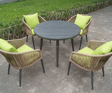 aluminum outdoor furniture polywood table rope chairs