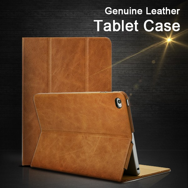 Factory Wholesale Main Product Genuine Oil Wax Leather Tablet Cover Case for iPad mini