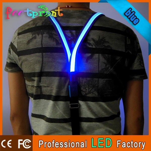 personalized led colorful suspenders for trousers