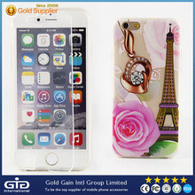 Transparent TPU Flip Cover for iPhone 6s with Touch Screen Function