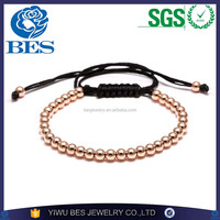 New Products 2016 Boy and Girl Friendship Micro Pave Stone Jewelry Copper Bead Bracelets