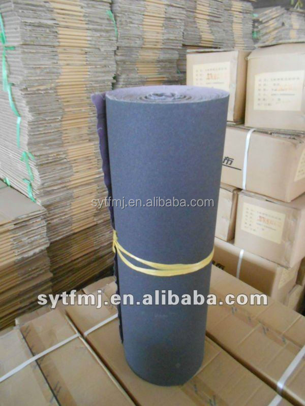 Flexible hand use abrasive cloth roll for polising metal/wood/furniture