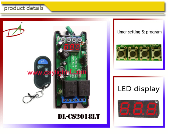 LED display 110VAC-240VAC timer Wireless Remote Control Light Switch