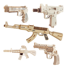 FQ brand high quality wood promotional machine rubber band wholesale toy wooden gun