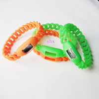 silicone bracelets with electrical watches parts