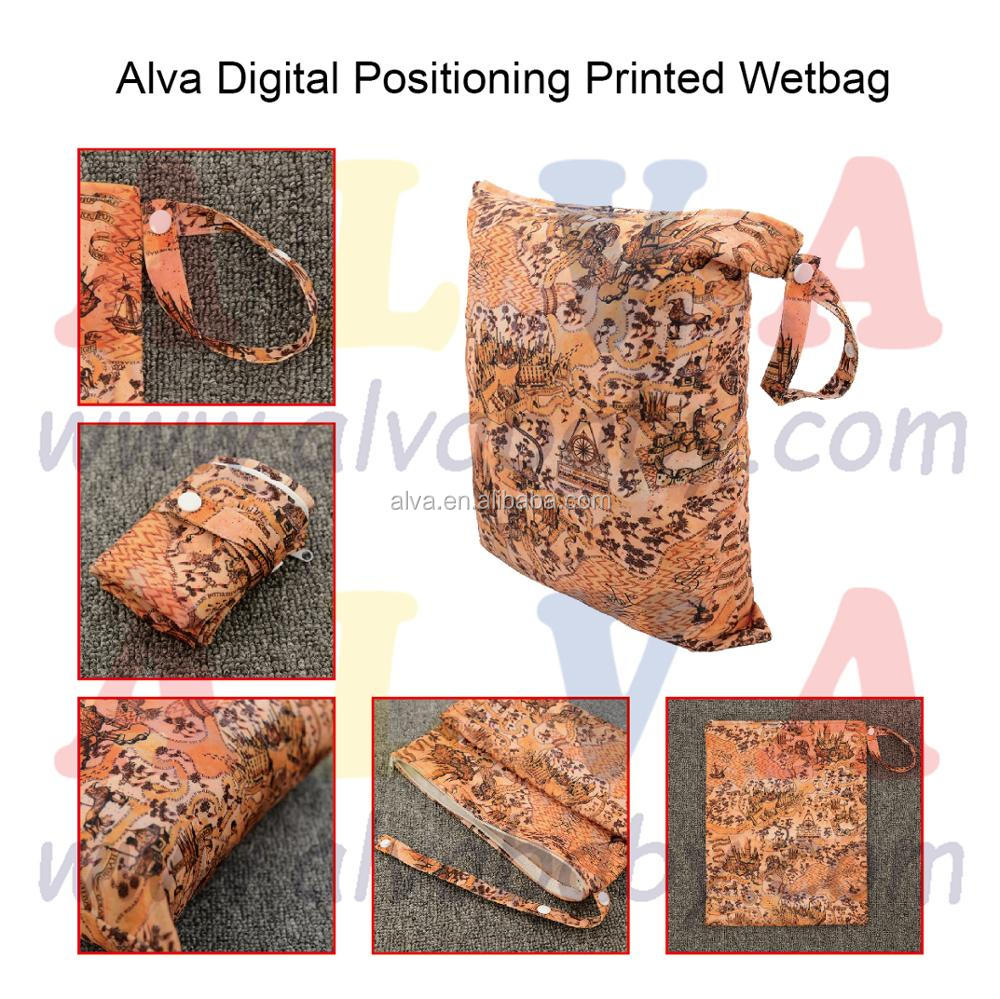 Alva New Arrival Diaper Bags Customized Wetbags Waterproof and Reusable Diaper Wetbag