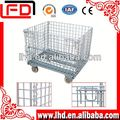 top performance Zinc plate wire container with wheels